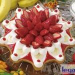 金平糖型 イチゴとバナナレアチーズのタルト(銀座店限定)